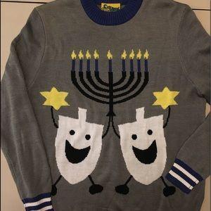 Hanukah sweater happy dreidel